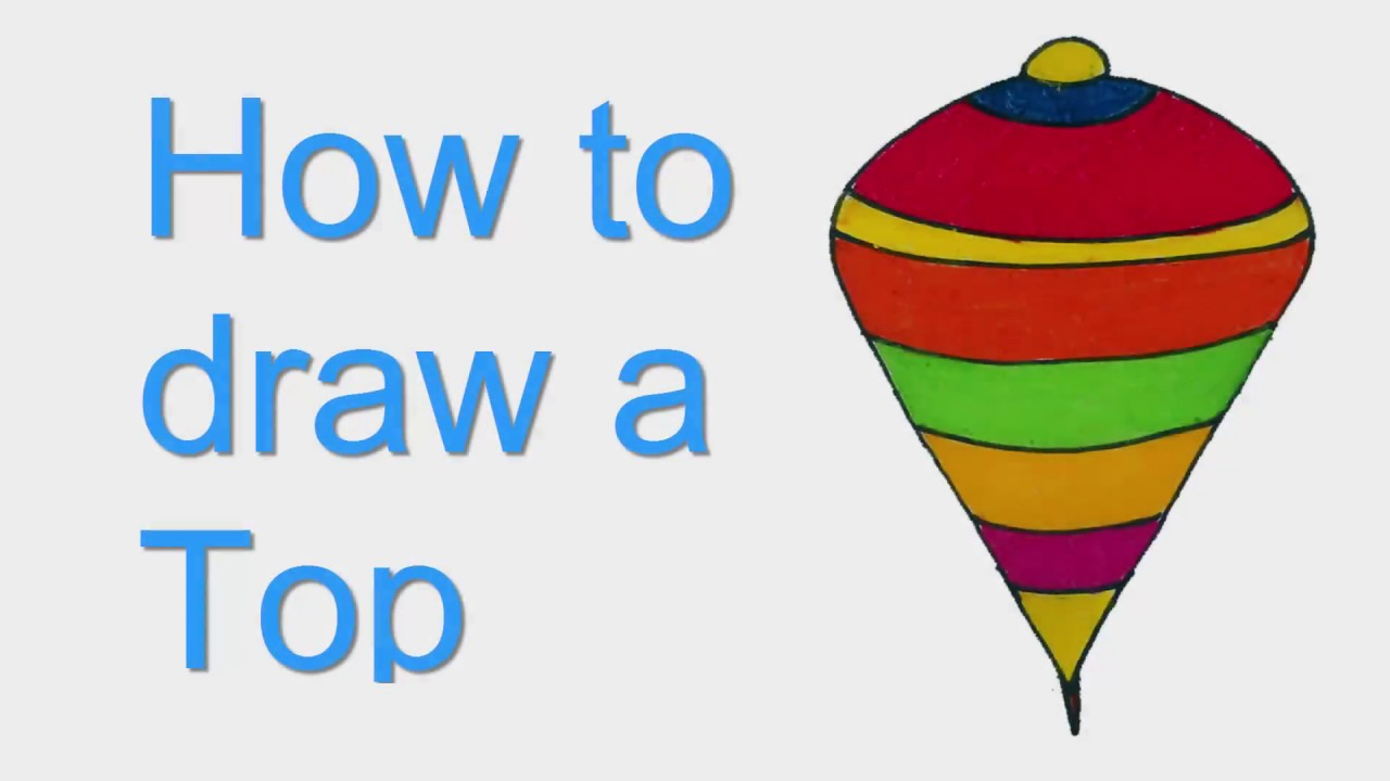 1280x720 How To Draw A Top. Top Drawing Step By Step Sayataru Creation