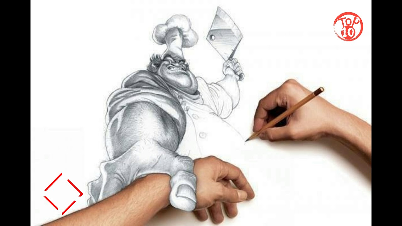 1280x720 Top 10 Awesome 3d Drawings 02