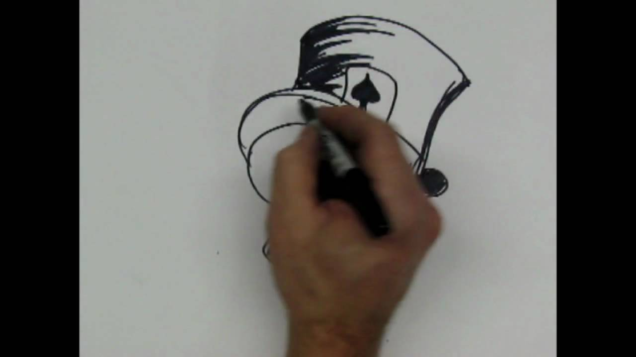 1280x720 How To Drawing Skull With Tophat,