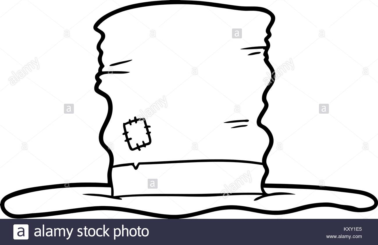 1300x843 Freehand Drawn Cartoon Top Hat Stock Photos Amp Freehand Drawn
