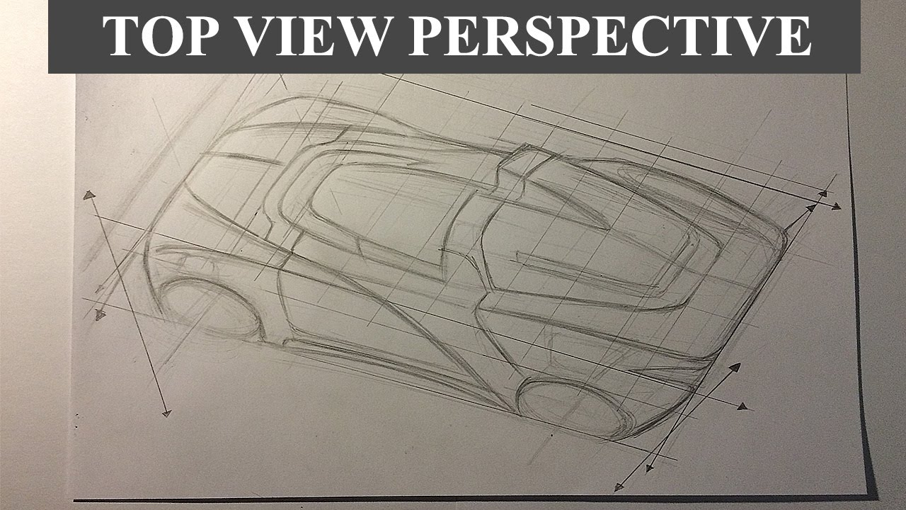 1280x720 Car Drawing Tutorial The Top View Perspective
