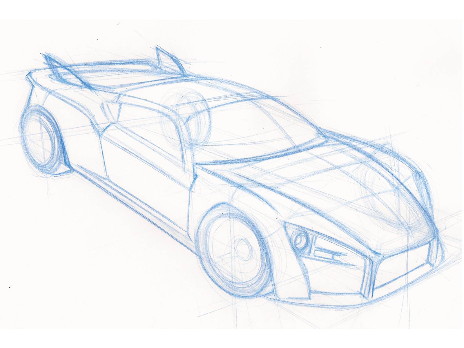 Top View Of Car Drawing at GetDrawings.com | Free for personal use ...