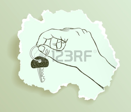 450x385 Girl Giving Flower To Her Mom, Drawing On Torn Paper Royalty Free