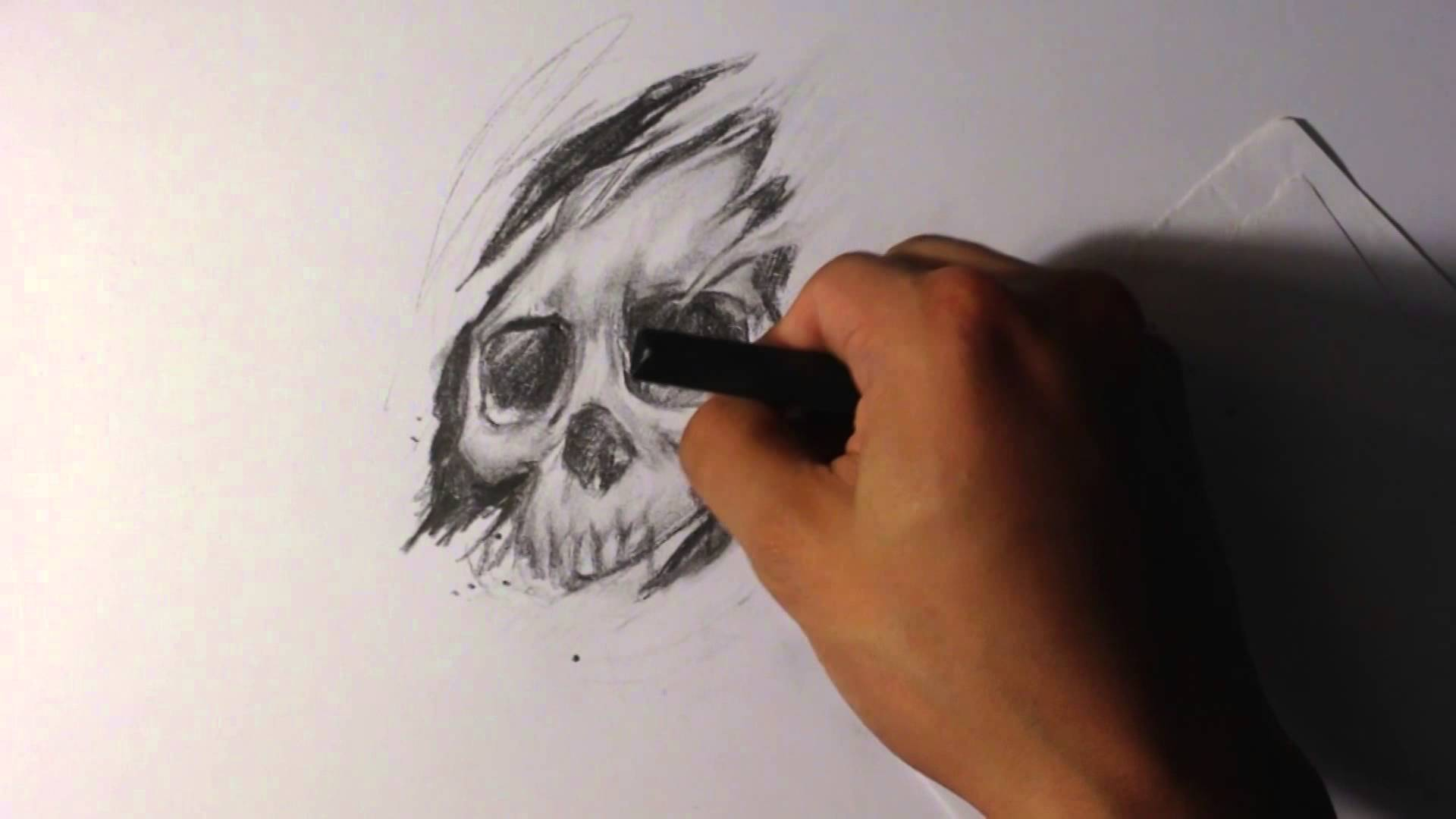 1920x1080 How To Draw A Skull Tearing Out Of The Skin