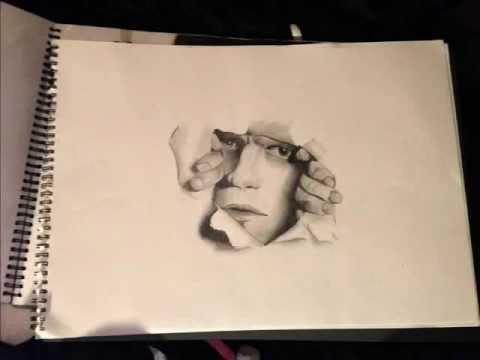 480x360 Man Ripping Through Paper Illusion!