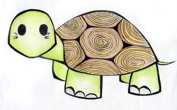 600x373 Cute Turtle Drawing Tumblr Into Their Turtle Shell Cute