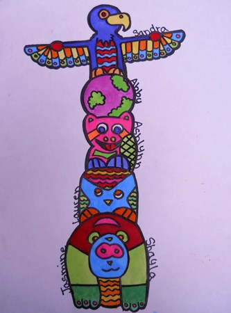 333x450 The Smartteacher Resource Native American Totem Pole Paintings