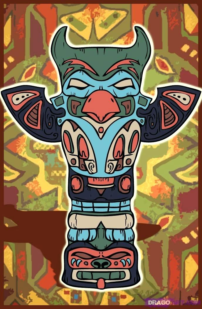 Totem Poles Drawing At Getdrawings Free For Personal Use Totem