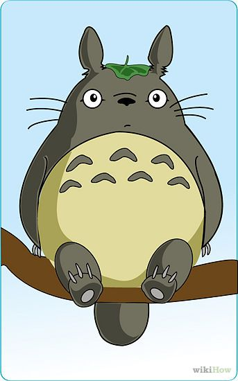 343x550 Draw Totoro Totoro, Bunny And Corner