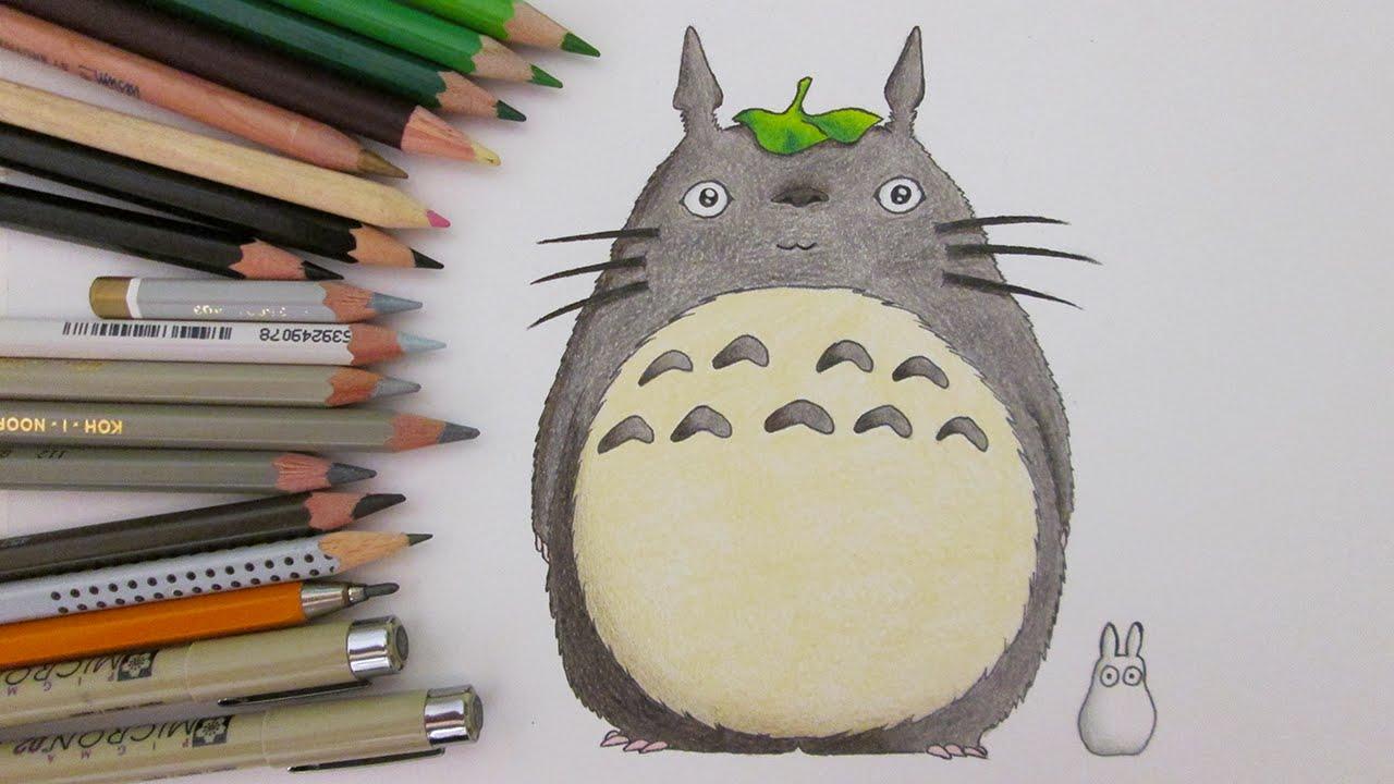 1280x720 Speed Drawing Totoro My Neighbor Totoro