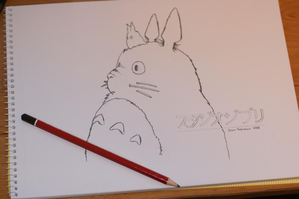 1024x683 Totoro Drawing A Drawing Of Totoro Brett Robinson