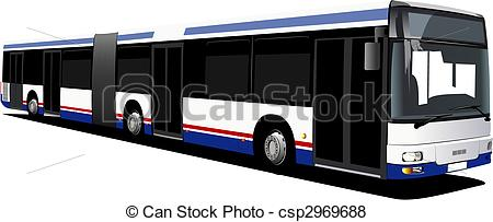450x203 City Bus. Vector Illustration Vector