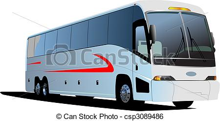 450x247 Tourist Coach. Vector Illustration Clip Art Vector