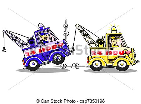450x333 Tow Trucks.wbg. One Tow Truck Rescuing Another Broken Down
