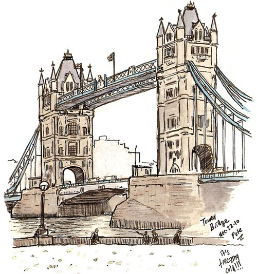 500x534 Tower Bridge London Petescully