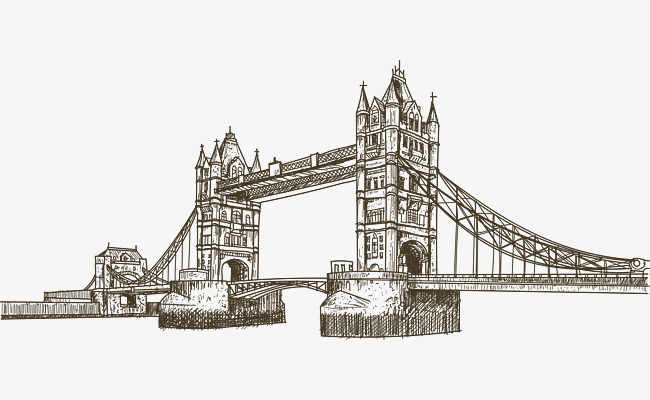 650x400 Hand Painted London Landmark London Tower Bridge, London Landmark