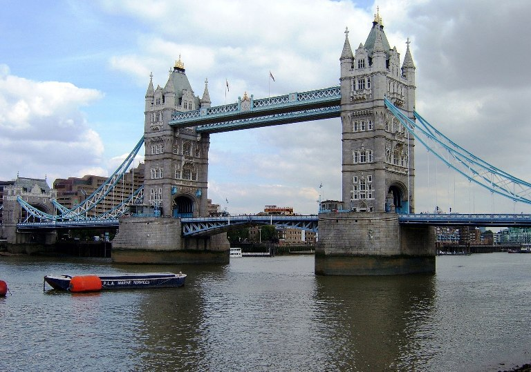 768x539 How To Draw Tower Bridge Step By Step