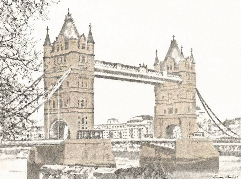 770x572 Saatchi Art Tower Bridge, London, England (View From Tower