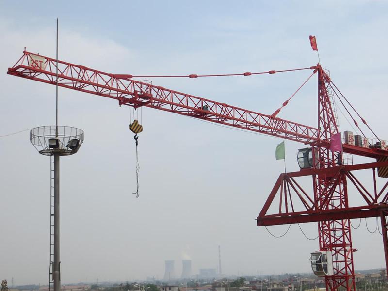 800x600 Qtz50(5008) 4t Mini Outrigger Stationary Tower Crane Drawing