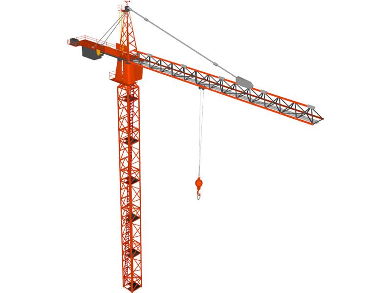 800x600 Tower Crane 3d Model