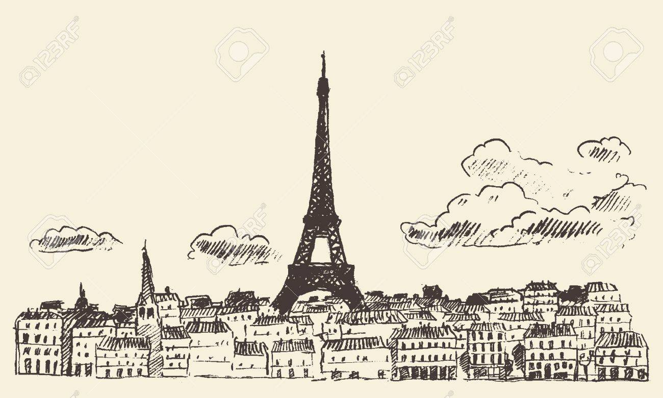 1300x780 Eiffel Tower Drawing Stock Photos. Royalty Free Business Images