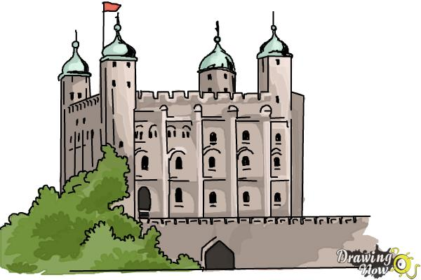 600x400 How To Draw The Tower Of London