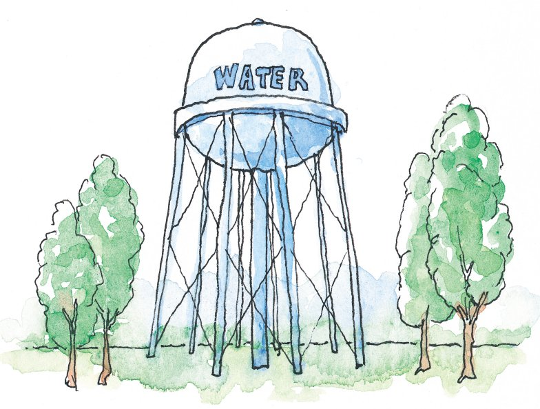 784x593 Drawings Of Towers Drawing Of Water Tower Craft Ideas