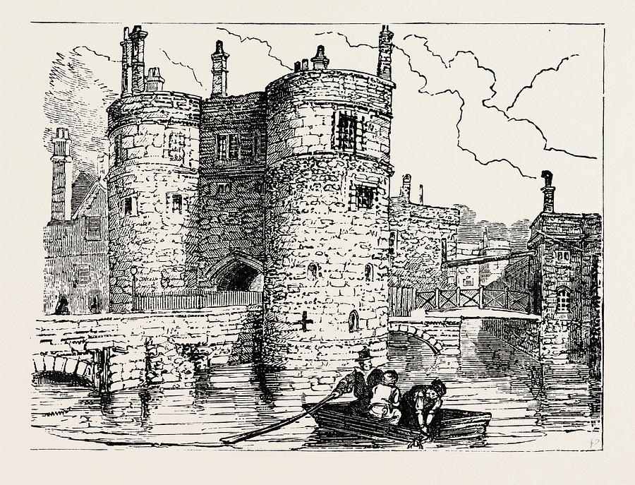 900x687 Moat And Entrance Tower Of The Tower Of London Drawing By English