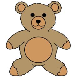 250x250 How To Draw A Teddy Bear