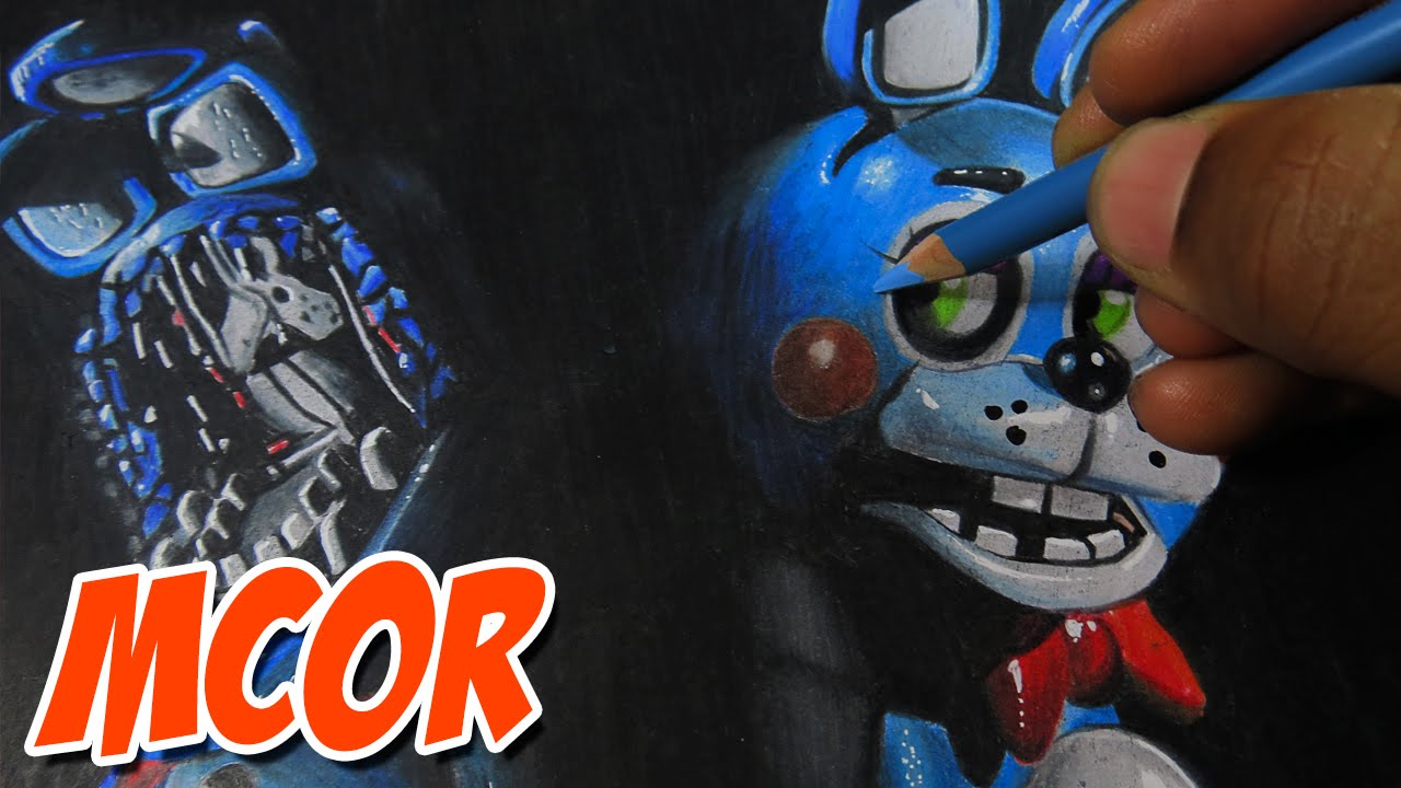 1280x720 Drawing Toy Bonnie And Withered Bonnie (Old Bonnie)