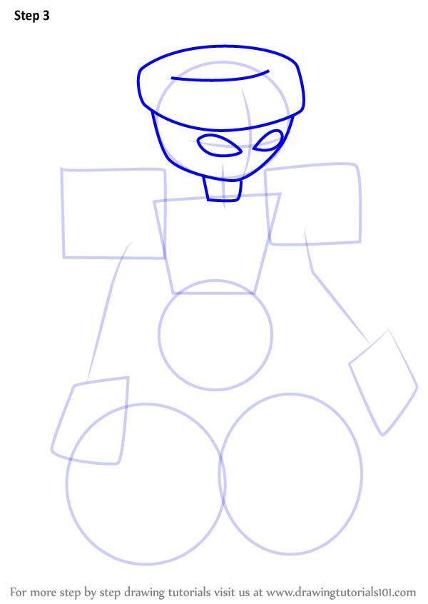 600x846 Learn How To Draw Toybox From Medabots (Medabots) Step By Step