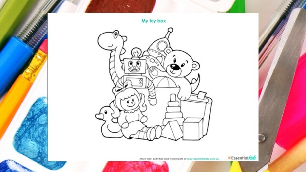 620x349 My Toy Box Colouring Page