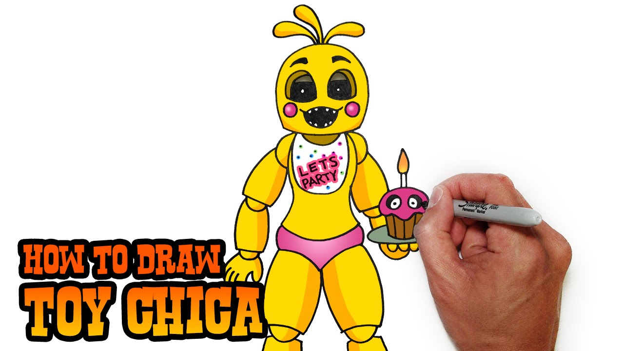 1280x720 How To Draw Toy Chica Fnaf 2 Video Lesson