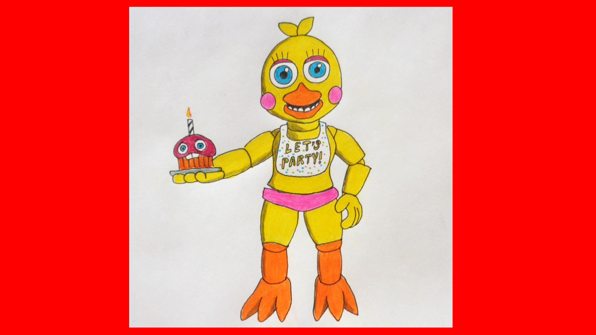 1920x1080 How To Draw Adventure Toy Chica, Five Nights