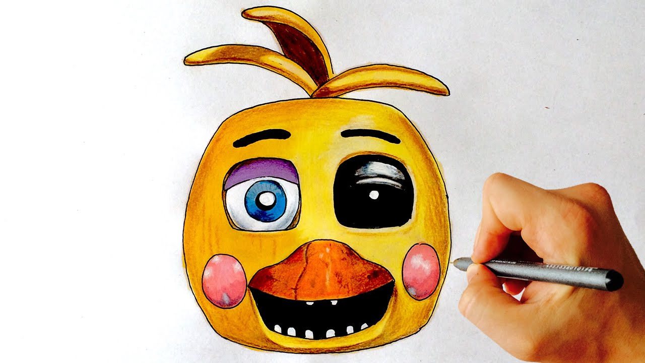 1280x720 Withered Toy Chica Fnaf How To Draw