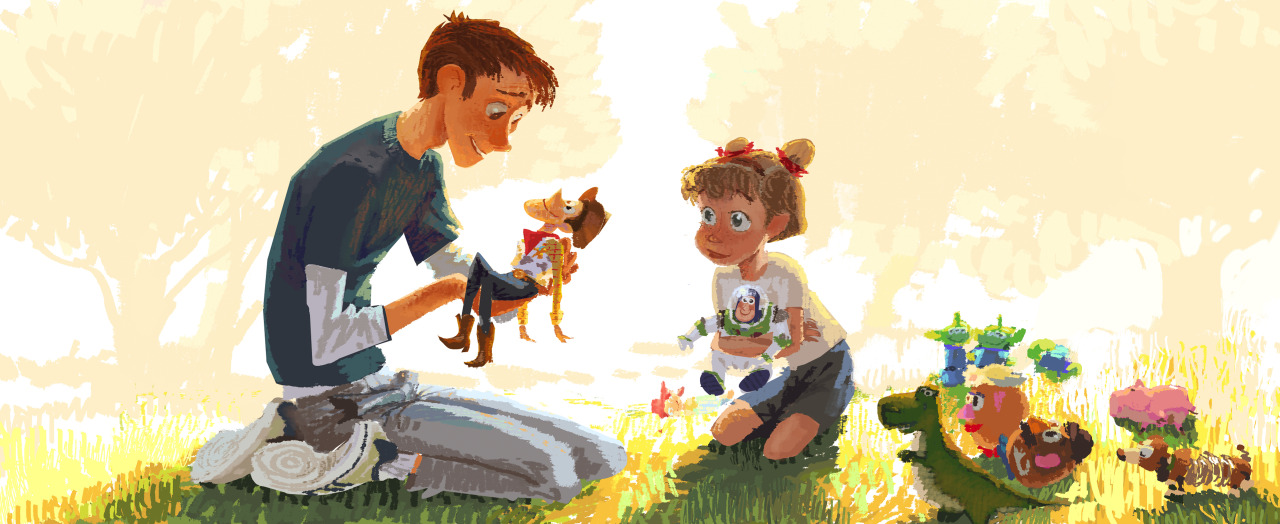 1280x524 Robert Kondo Painting From Toy Story 3! Drawing By The Amazing