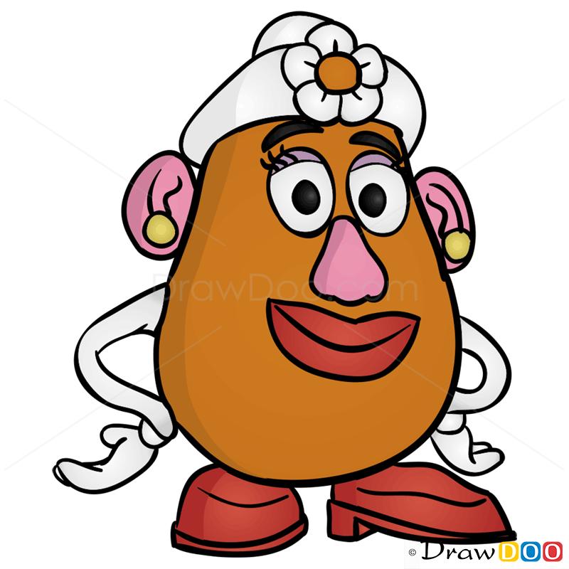 800x800 How To Draw Mrs. Potato Head, Toy Story