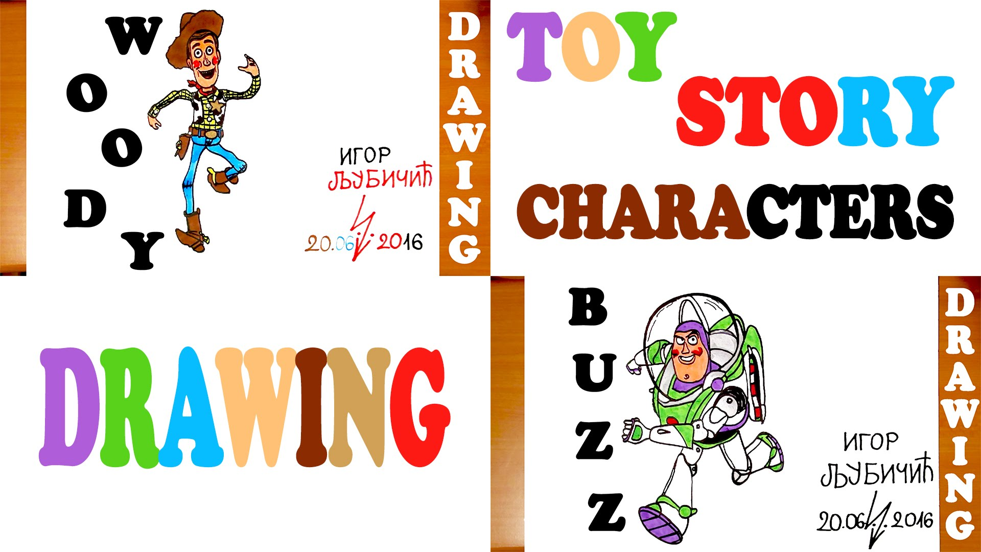 1920x1080 How To Draw Toy Story Characters Woody And Buzz Step By Step