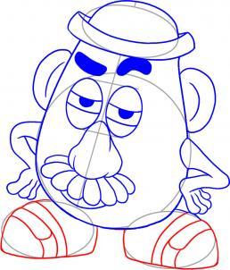 258x302 How To Draw How To Draw Mr Potato Head