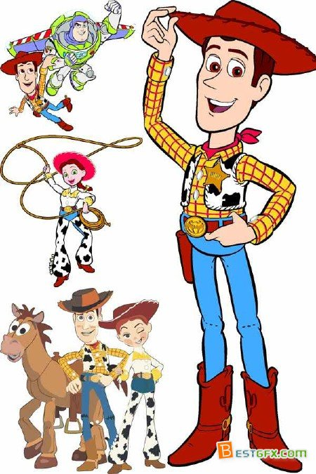 450x675 Vector Drawing Characters Toy Story Free Download Ae Project