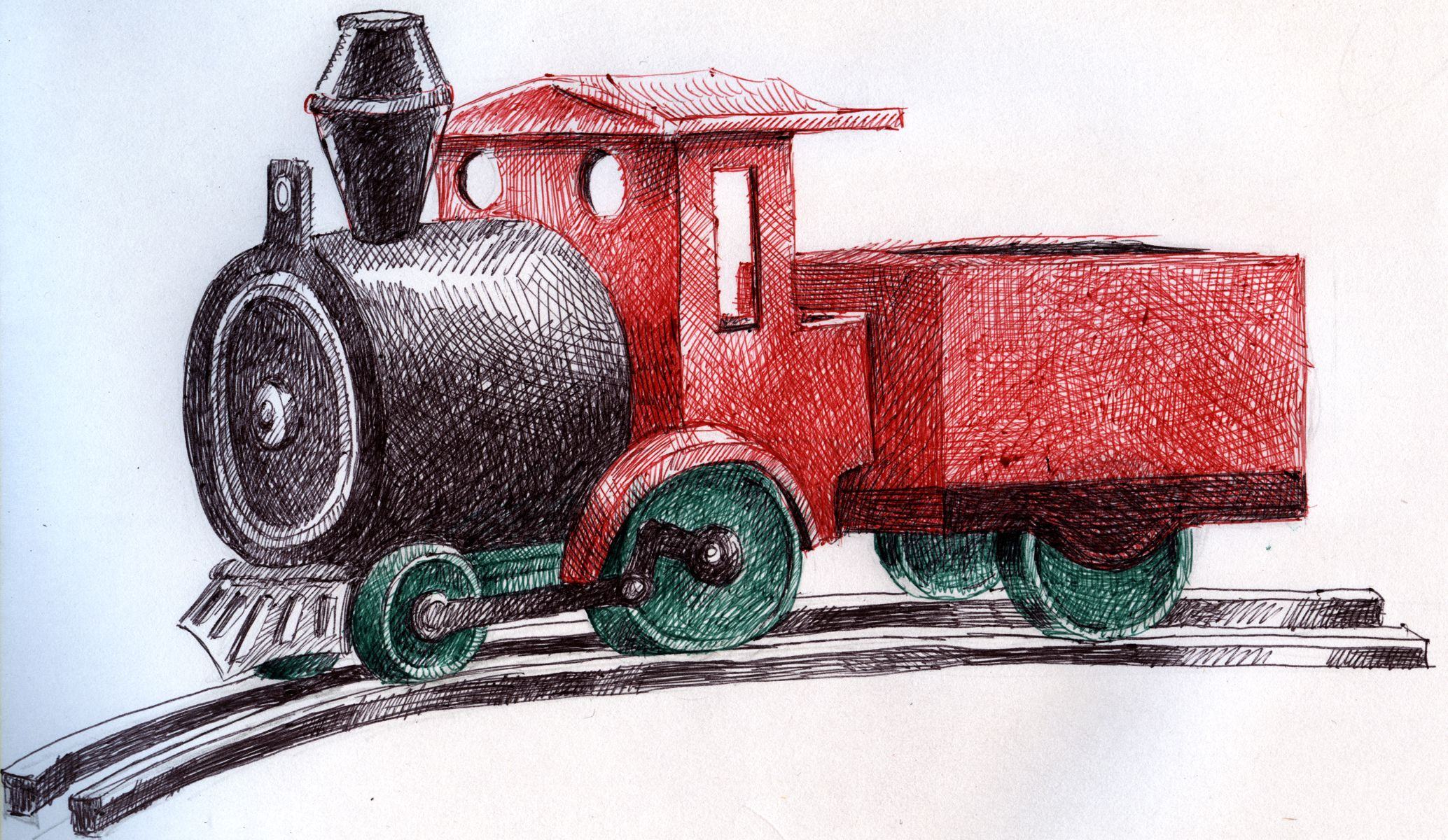 how to draw a toy train