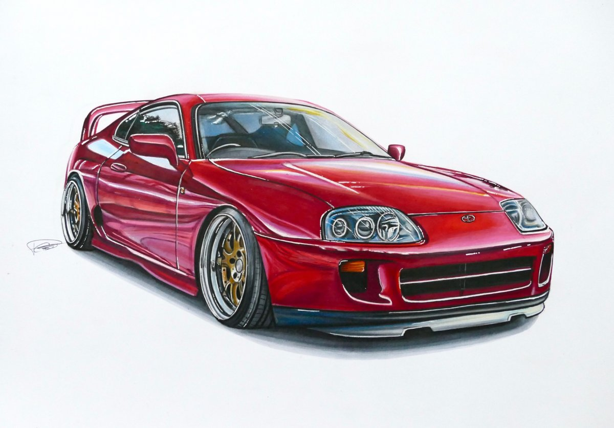 Toyota Supra Drawing at GetDrawings.com | Free for personal use ...