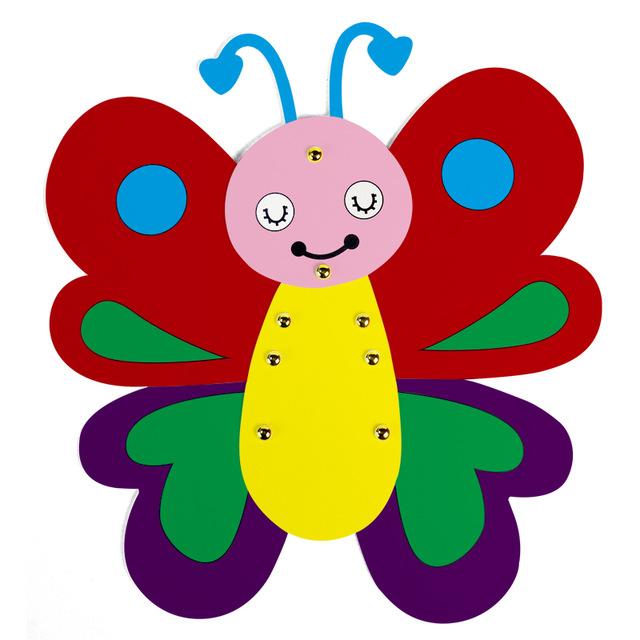 640x640 Draw Art Set Kids Craft Cartoon Butterfly Painting Cardboard