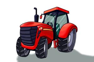 300x200 How To Draw A Tractor