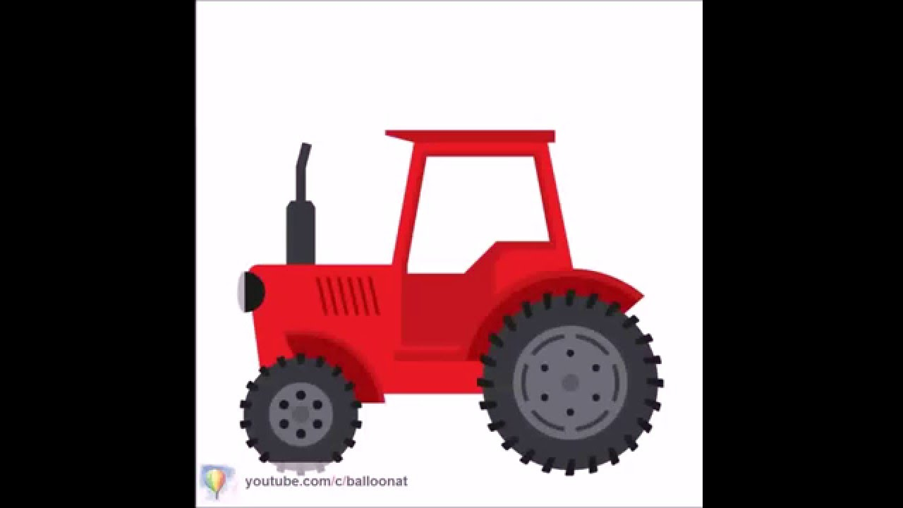 1280x720 How To Draw Tractor Step By Step For Kids