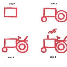 220x220 How To Draw How To Draw A Tractor