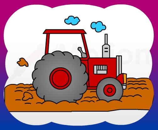 503x415 How To Draw Tractor Side For Kids Snail Mail