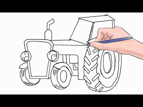 480x360 How To Draw A Tractor