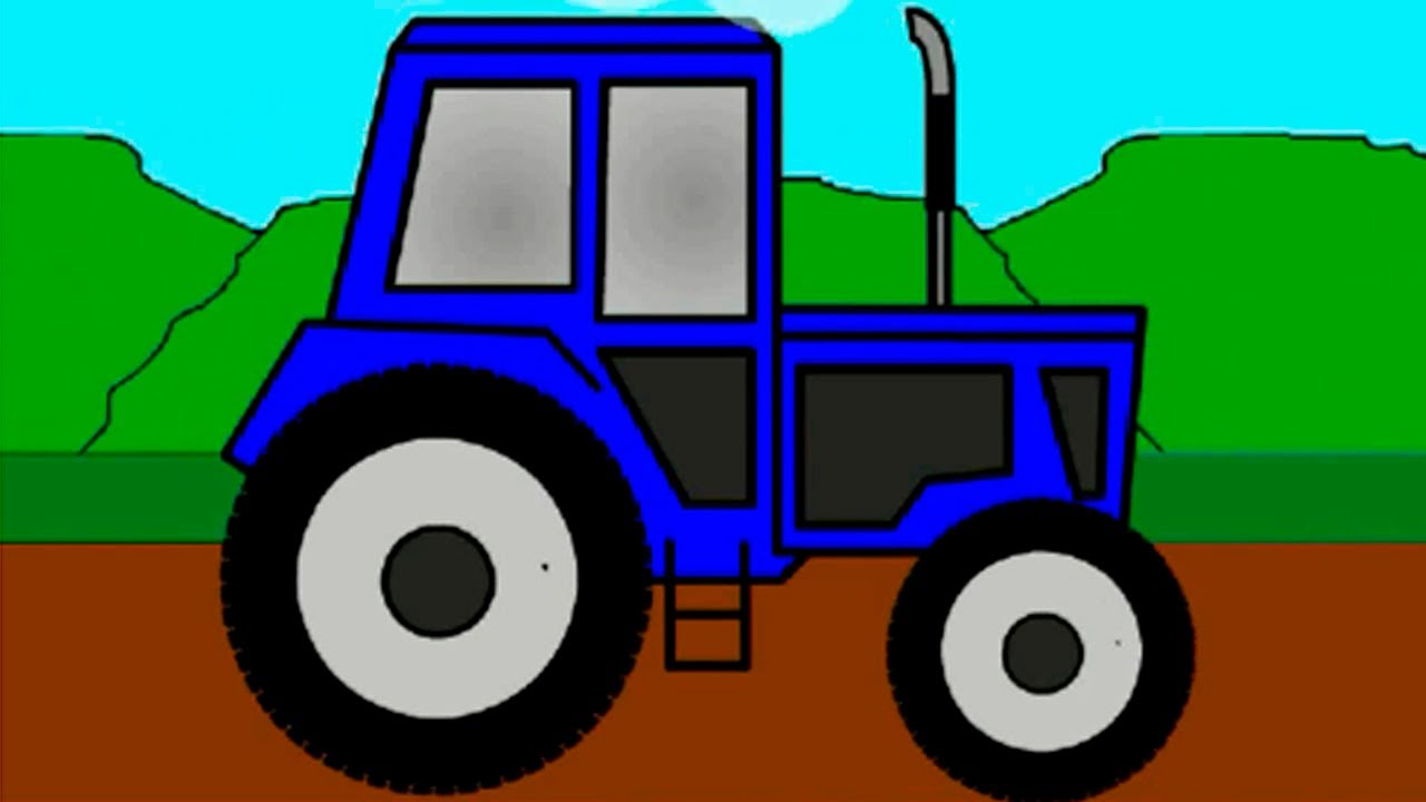1280x720 Learn Colors With Tractor. Cartoons For Kids.