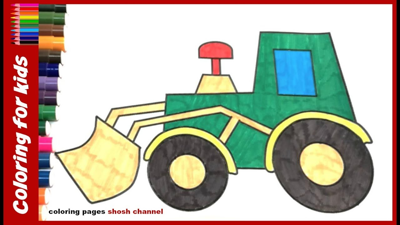 1280x720 Free Coloring Pages How To Colour Tractor Drawing Pages For Kids